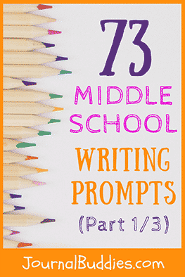 Here you will find many fun ideas for middle school students to write about in their journals.