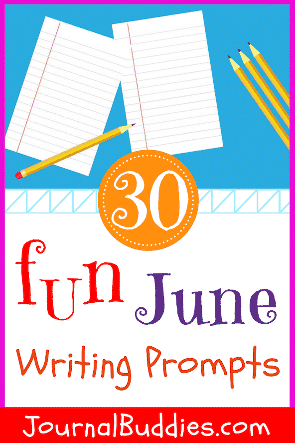 Encourage kids to explore new boundaries and seek out variety every day this June with these fun writing prompts!