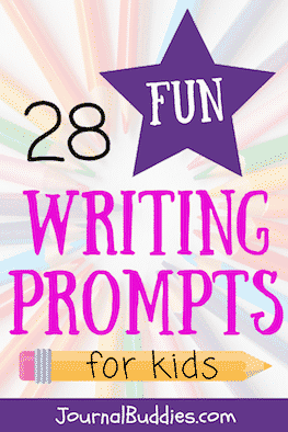 Look at this listing of fun writing prompts to help get those creative writing juices flowing.