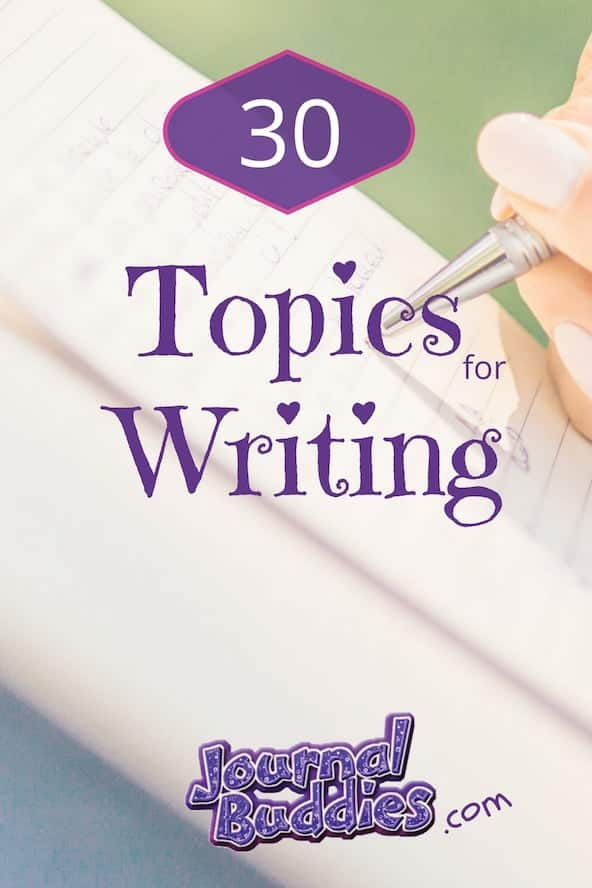Look at these 30 new writing topics!
