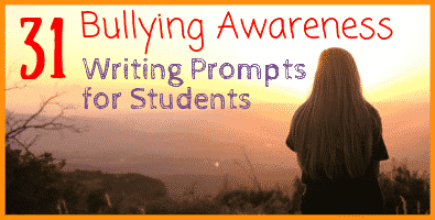 In these 31 new writing prompts, students will think about the reasons people bully others and the potential ramifications of their actions.