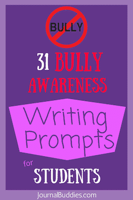 Bullying Awareness Writing Prompts for Kids