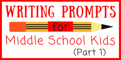 31 Fun Writing Prompts for Middle School • JournalBuddies com
