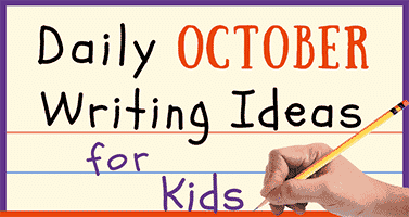 Daily October Writing Ideas for Kids