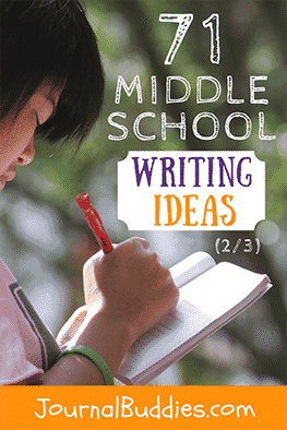 Your middle school students will be inspired to deepen their writing skills with these journal writing prompts specifically for their age group!