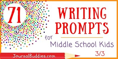 Journal Prompts for Middle School Writers