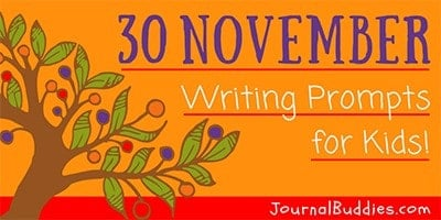 Graditude Writing Prompts for November Writing Ideas