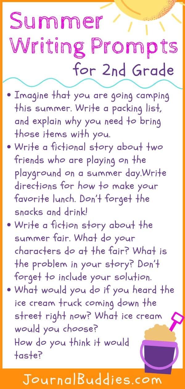 2nd Grade Summer Writing Ideas