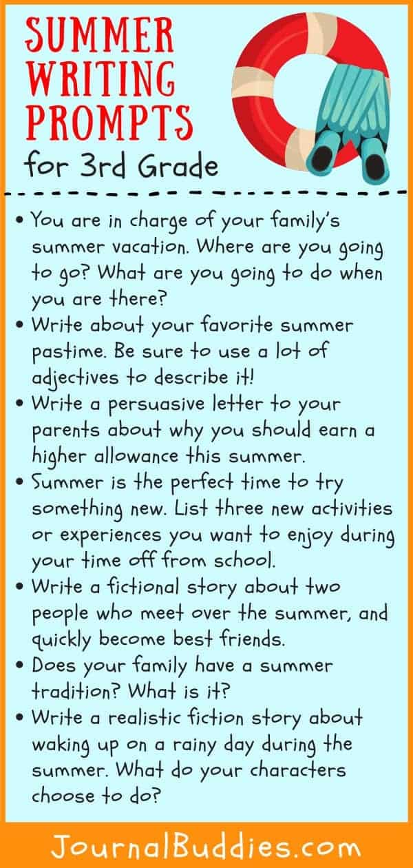 Summer Writing Ideas for Grade 3