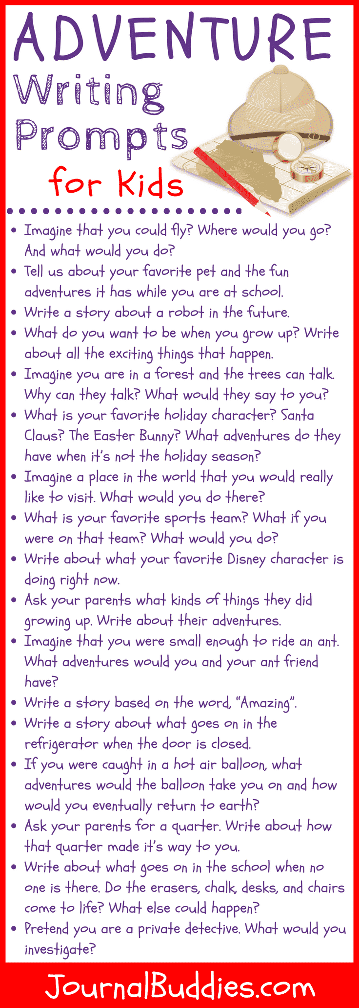 Adventure Story Ideas 17 adventure writing prompts for kids • journalbuddies