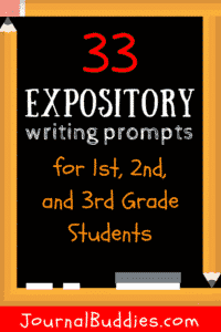 Use these 33 new prompts in your 1st, 2nd, and 3rd grade classrooms to help students learn the valuable skill of expository writing!