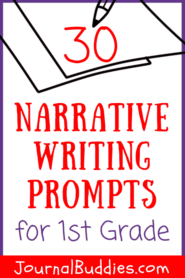 These narrative writing prompts for first graders offer a great entry point for young writers to begin learning about storytelling.