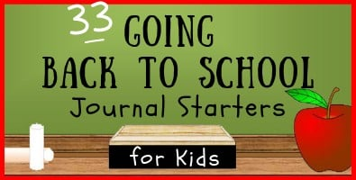 Going Back to School Journal Starters for Students