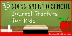 33 Going Back to School Journal Starters