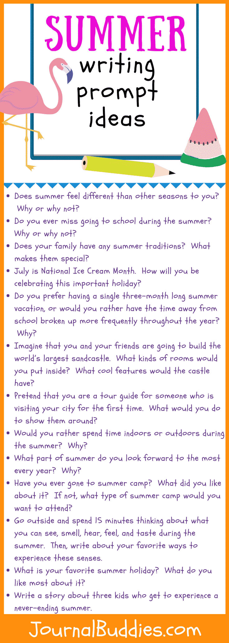 In these 30 new journal prompts, students will reflect on everything that makes summer such a unique time of year.