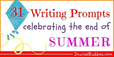 End of Summer Journal Writing Ideas for Kids