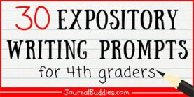 30 Expository Writing Prompts 4th Grade