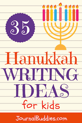 Look at these 35 Hanukkah writing ideas for kids that encourage them to deepen their understanding & appreciation of Hanukkah holiday traditions & celebrations.