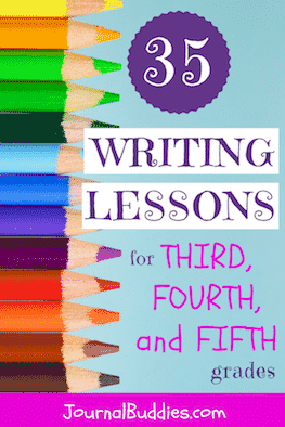 Look at these! All-new daily writing lessons for Grade 3, 4 & 5 are designed to introduce your students to a variety of writing styles and to a number of different types of creative expression.  The prompts focus on unique genres and ask your students to develop an array of skills as they craft reports based on interviews, descriptive essays, poetry, reflections, persuasive essays, short stories, and reviews.