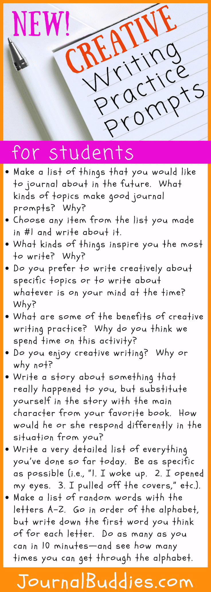 Creative Writing Topics for Students