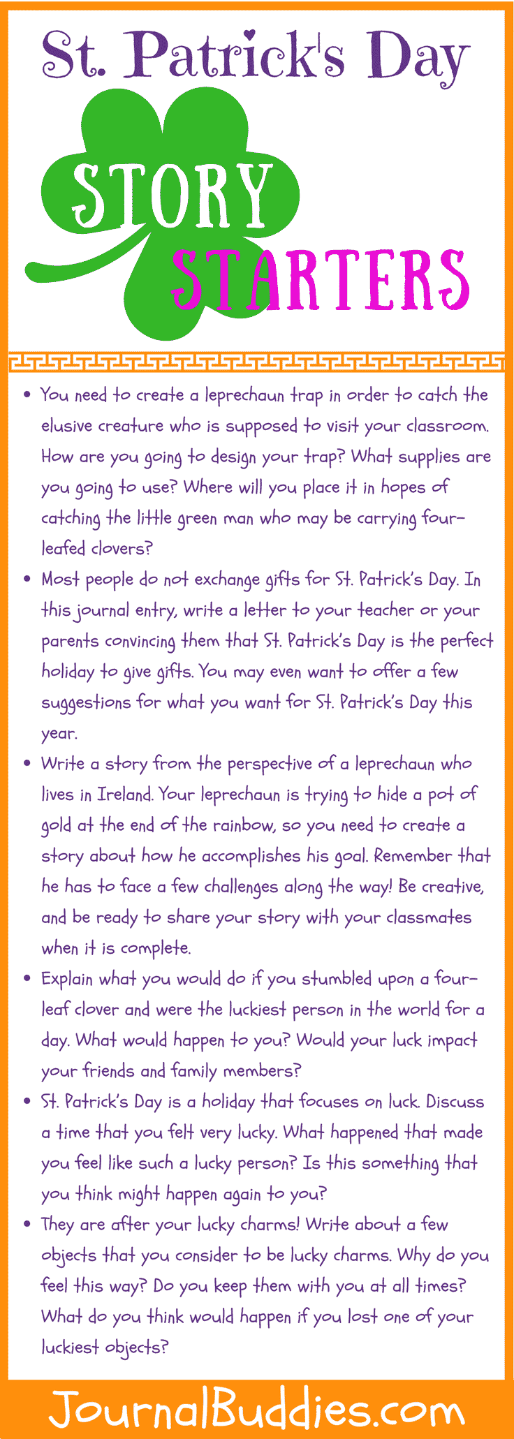 See this and come on over and take a peek and discover some fabulous and fun St Patrick's Day story starters & writing prompts for Kids!