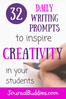 Creative journal prompts are one of the best ways to help your students learn that self-expression is a beautiful and freeing thing—and these all-new daily writing prompts are a great way to get started.
