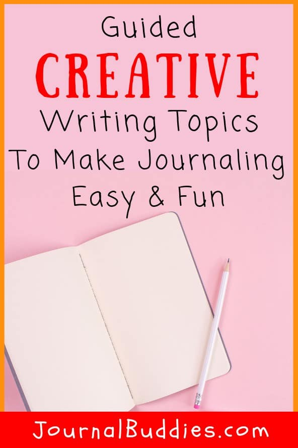 Guided creative writing topics are a fun and effective way to journal! Use these questions with your class to teach them about the positive power of journaling.