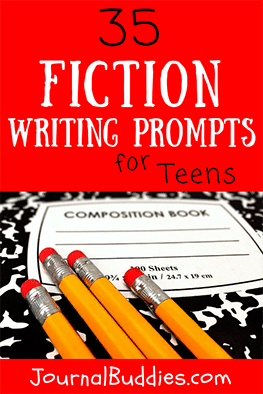 Use these 35 fiction writing prompts to inspire your teens as they author their own original works.