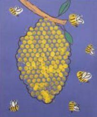 Honeycomb cereal bee hive