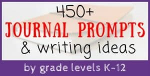 Journal Writing Prompts by Grade Level