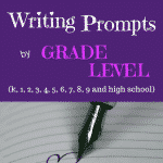 In these writing prompts organized by grade level, there are fun prompts for kindergarteners, writing ideas for elementary kids and middles school students, and even some creative writing prompts for high schoolers.