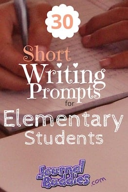 Use these short writing prompts for elementary school students to help your class ease into the process of regular writing—and to help them learn how much fun creative self-expression can be!