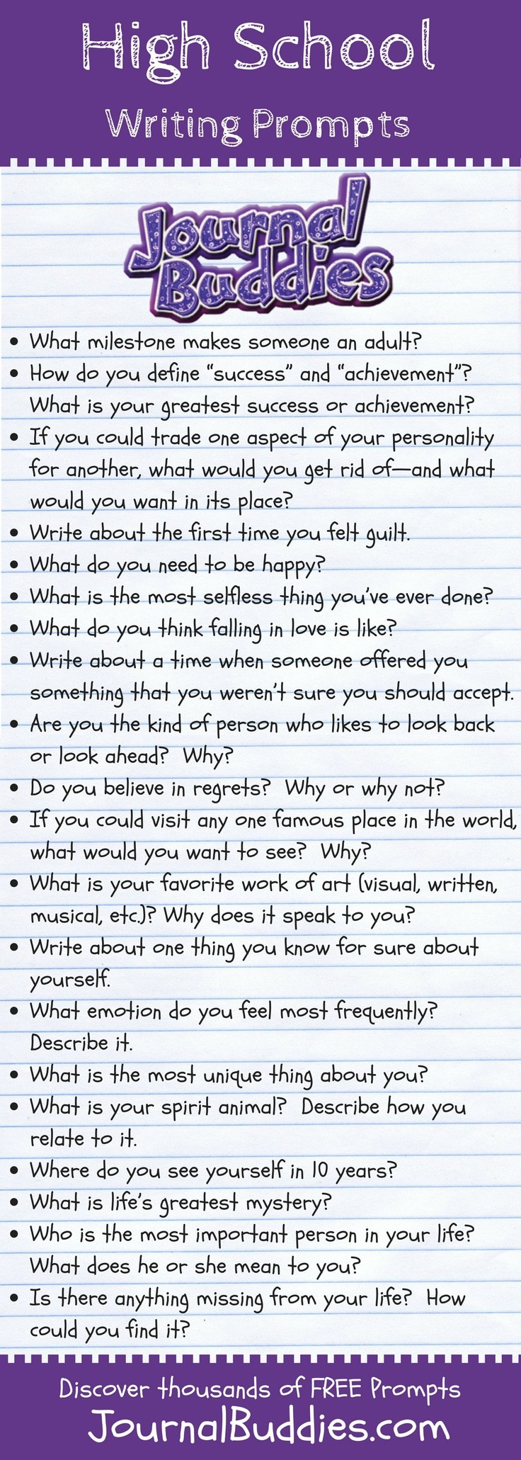 great writing prompts for your high school classroom  a unique set of  thoughtprovoking writing prompts especially for the high  school classroom