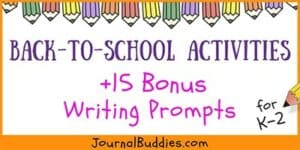 Writing Ideas and Activites for Back to School