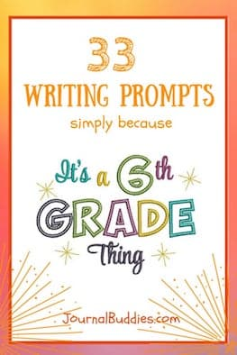 Use these brand new journal prompts for 6th graders to help your students grow and prepare for the challenges they'll face in the coming years—and to give them a great foundation to start from!