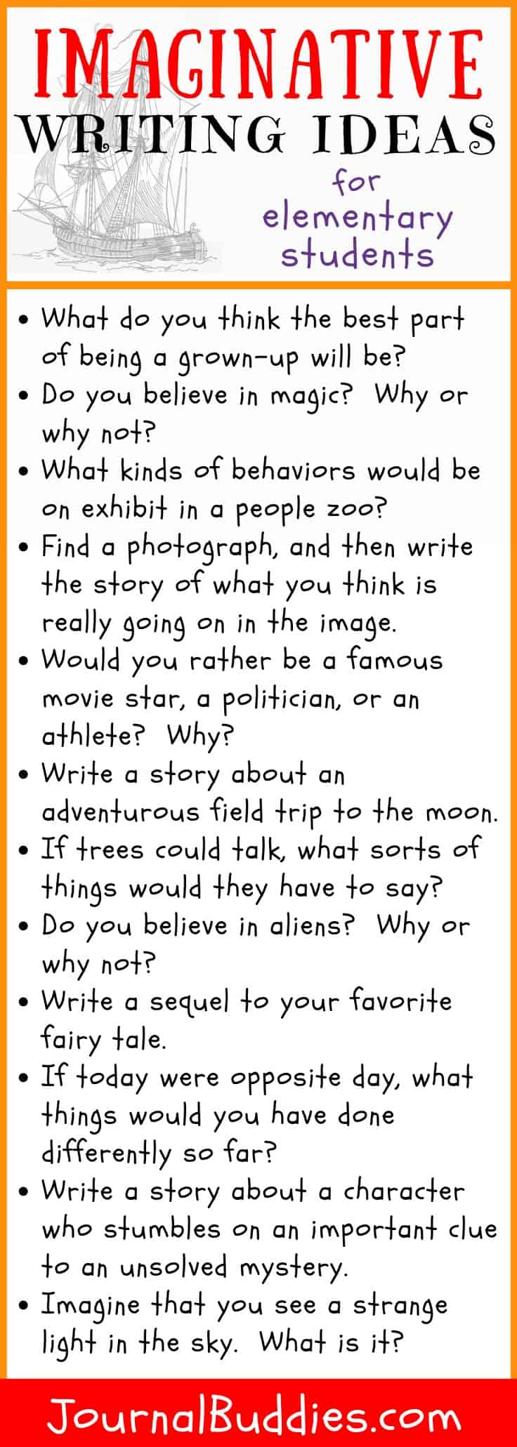 Use these new imaginative writing prompts to get young students excited about writing and eager to spend more time with their journals in hand!
