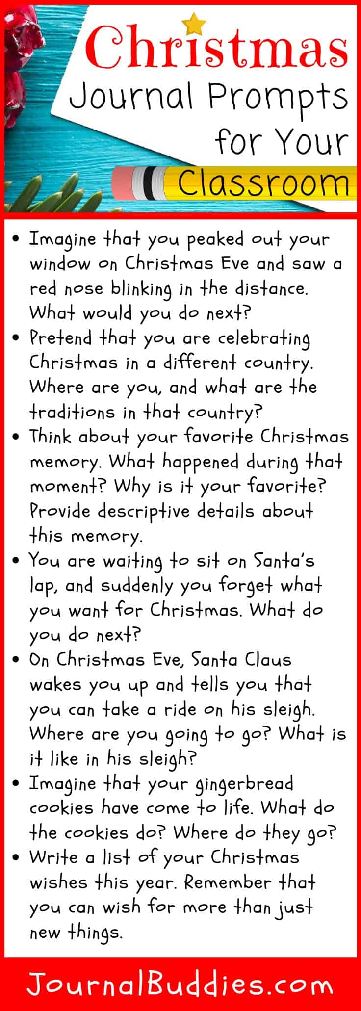 Christmastime Writing Activities and Writing Prompts for Students