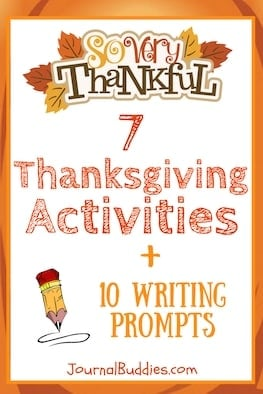 Check out these 7 Thanksgiving activities for kids + 10 bonus journaling prompts