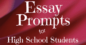 essay prompts for high schoolers  journalbuddiescom