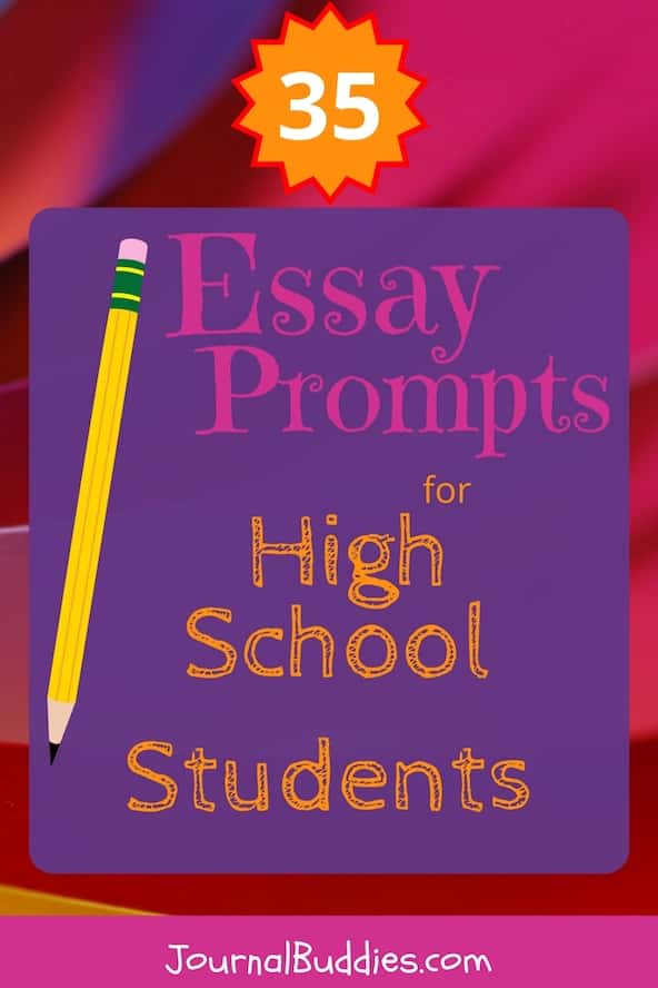 Use these essay prompts for high school students to help teens get better at personal essay writing and more skilled at expressing their deepest thoughts and ideas!