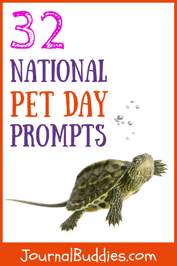 National Pet Day Journal Prompts for Children