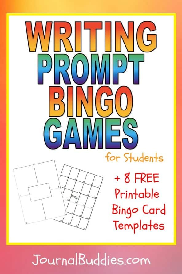 These writing prompt bingo games for kids are great for use in a classroom setting, but they can easily be used for small groups of friends, individual, and online play as well.