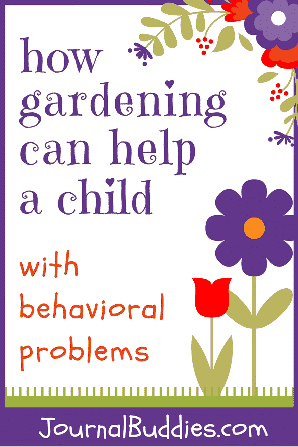 By being outdoors and actively involved in the physical tasks of gardening, kids can release built up energy and help rebalance hormones which can reduce disruptive behavior and encourage better concentration.
