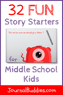 Use these story starters for kids to motivate your middle school class to start writing… and to see what fresh ideas they come up with!