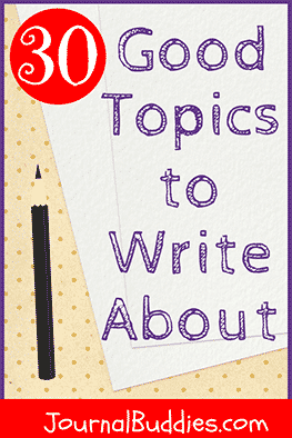Sometimes the hardest part of writing is to get started. This is where good topics to write about can be super handy.