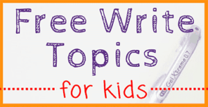 Free Write Topics for Kids