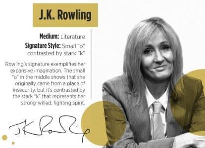 Handwriting Analysis of J.K. Rowling