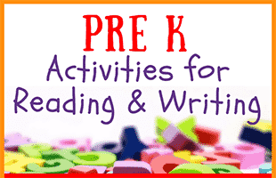 Pre K Activities for Reading and Writing