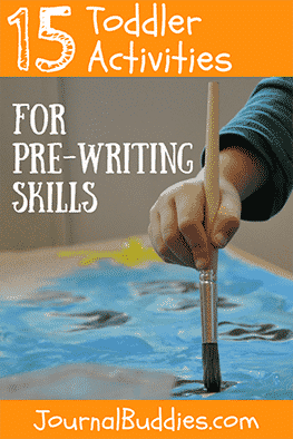 These toddler activities are designed to help children develop pre-writing skills, and will begin preparing them for the time in preschool where they will start to build the foundation for reading and writing.
