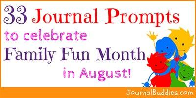 Family Fun Month Writing Ideas